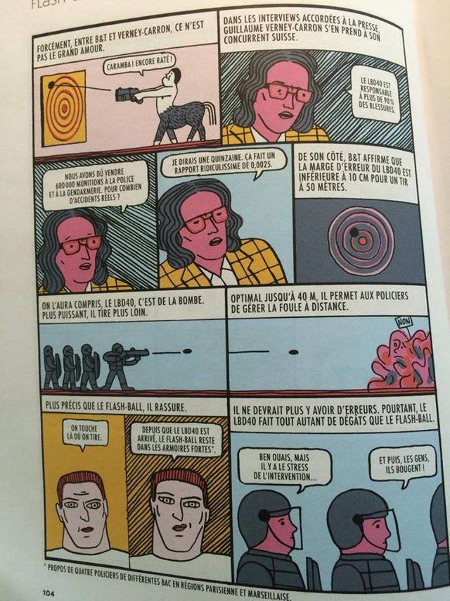 """La Revue dessinée """"Flash-Ball : corriger le tir"""""""