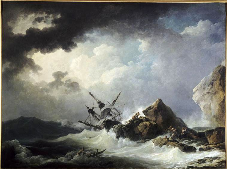 Philippe Jacques Loutherbourg II, Marine avec naufrage