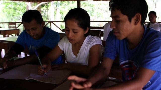 Élèves de l'école Los Rios de Saber