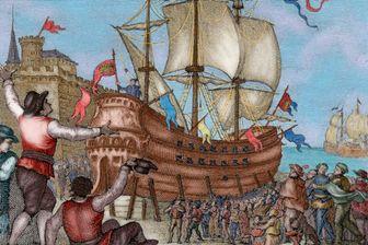 Le Victoria à Séville (gravure 1807)