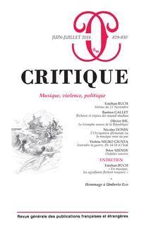 Critique n°829-830