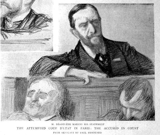 Paul Déroulède durant son procès