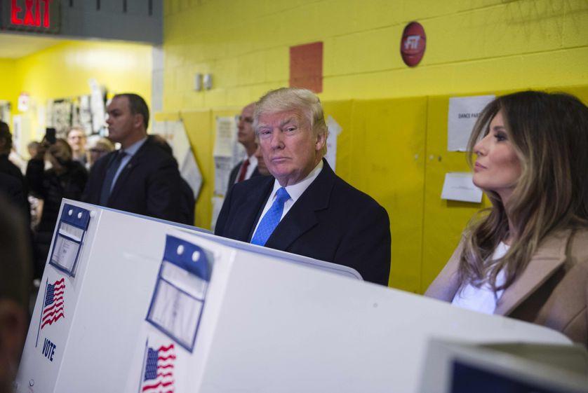 Donald Trump au bureau de vote