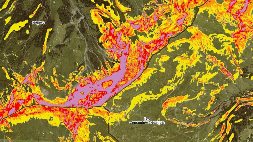 Un code couleur permet désormais d'identifier rapidement les zones à risque au delà de 30 degrés d'inclinaison