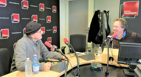 France Musique, studio 141... notre invité le délicieux chanteur Yvan Dautin & Benoït Duteurtre, producteur (de g. à d.)
