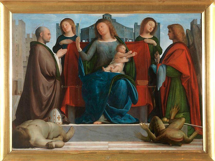 « La Vierge aux tours » -Madonna delle Torri- (1520) de Bramantino.