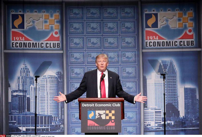 Donald Trump au Detroit Economic Club en août 2016
