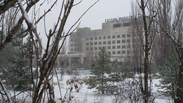Logements (vides) à Pripiat. La forte radioactivité ambiante empêche le repeuplement de la ville.