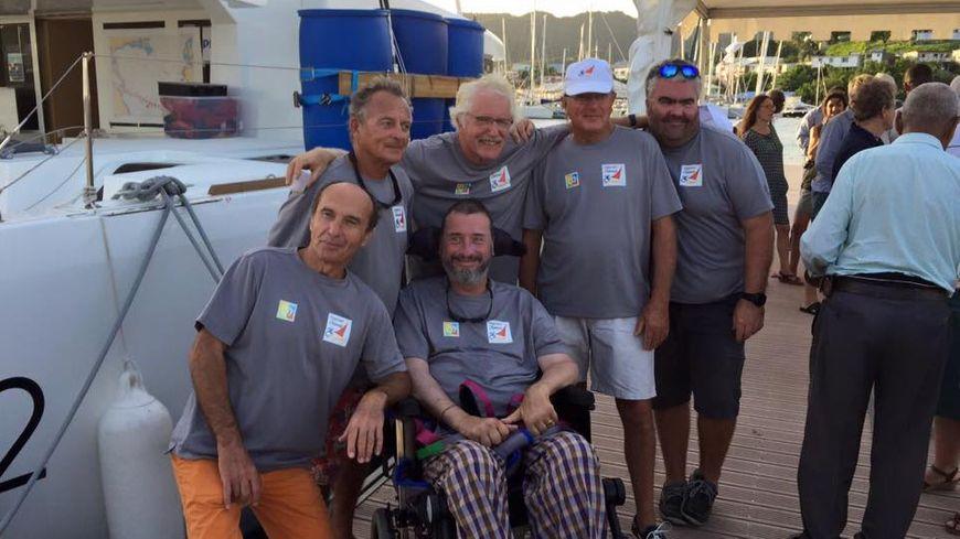 L'équipage de la Transat dans un Fauteuil à sont arrivée à la Martinique après 50 jours de mer
