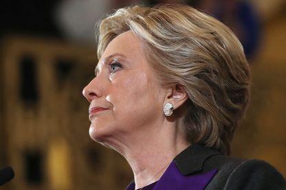 Hillary Clinton lors de son allocution du 9 novembre 2016, jour des résultats de la présidentielle américaine 2016