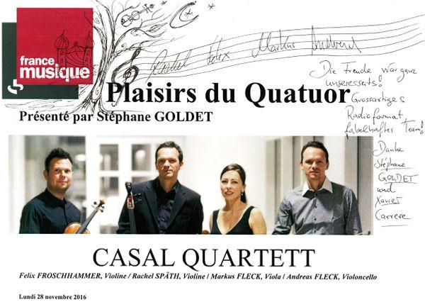 Livre d'or Casal Quartett
