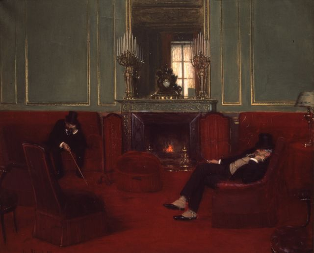 """Jean Beraud """"Le cercle"""", 1911, Huile sur toile (61 x 73,5 cm) Paris, musée d'Orsay."""