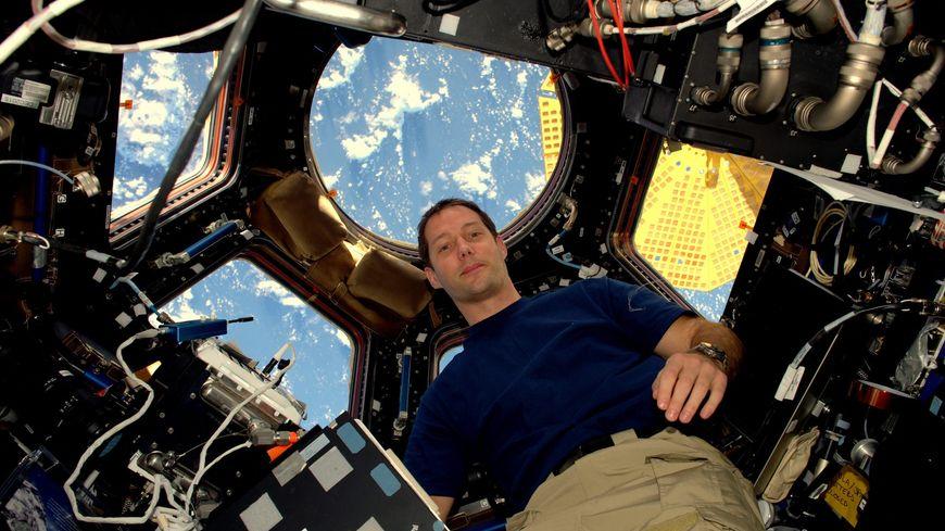 Thomas Pesquet à bord de l'ISS, le 22 novembre 2016