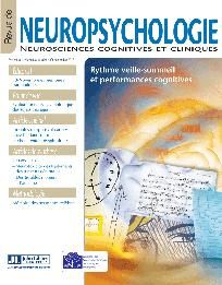 Revue de neuropsychologie 3/Volume 8