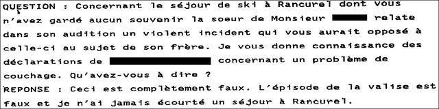 Extrait du procès-verbal de Monseigneur di Falco