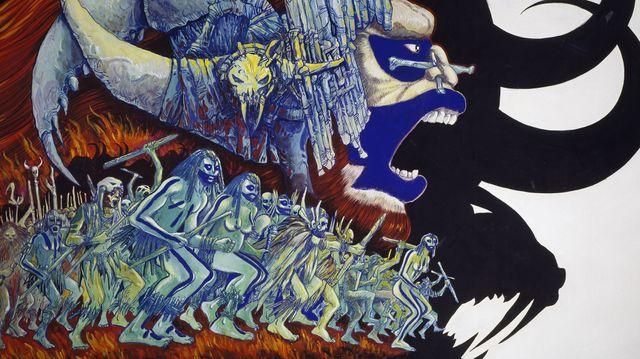 Detail de l'affiche de la Guerre du feu par Philippe Druillet