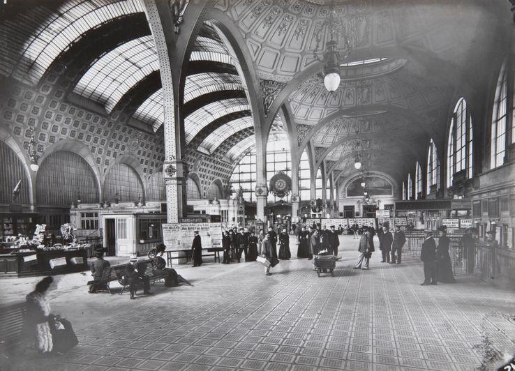 La gare d'Orsay en activité au début du XXème siècle
