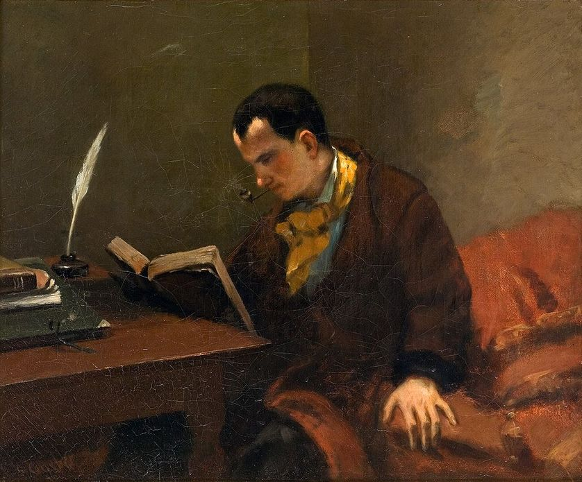 Charles Baudelaire par Gustave Courbet, vers 1848.