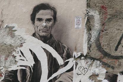 """L'oeuvre """"Pier Paolo Pasolini"""" par Ernest Pignon Ernest à Naples"""
