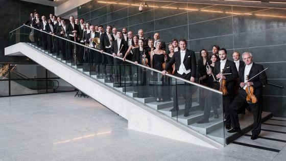 L'Orchestre de la Suisse italienne et leur chef principal Markus Poschner