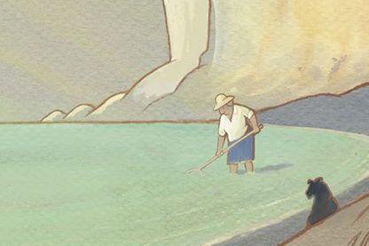 Détail de l'affiche de Louise en hiver de Jean-François Laguionie