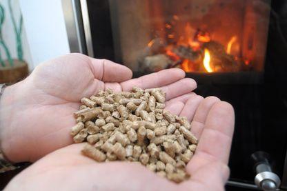 Les granulés de bois pour alimenter le feu dans la cheminée