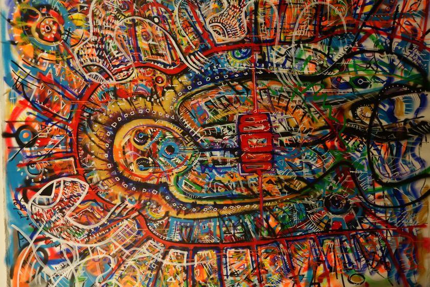 KAMIKAZE CIRCUS - Acrylique sur toile 2016