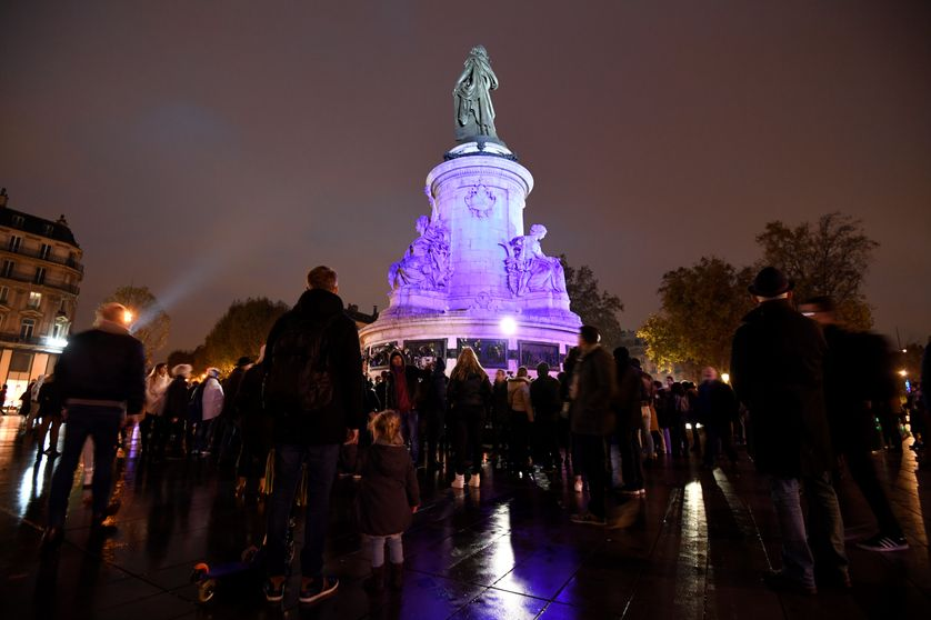 Place de la République, le 13 novembre 2016