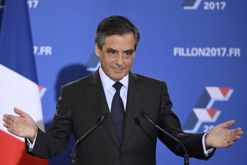 François Fillon à son QG de campagne, le 27 novembre 2016