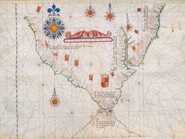 Carte d'Amérique du Sud (1563)