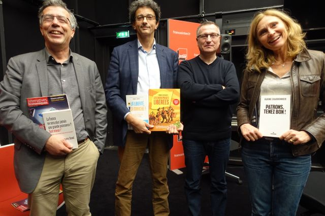 Guillaume Duval, Isaac Getz, Willy Pelletier et Karine Charbonnier © Radio France / Laurent Goumarre