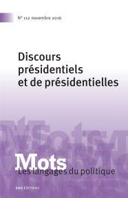 Mots. Les langages du politique n°112/2016