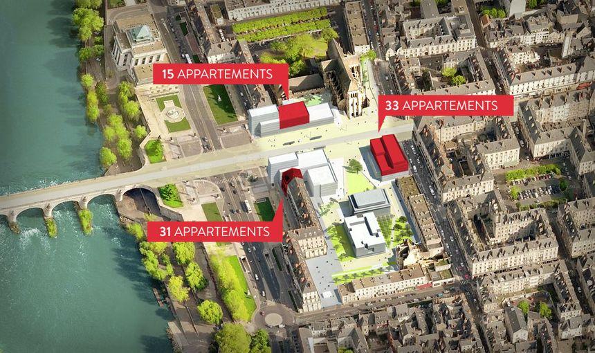 Deux immeubles d'appartements seront également construits