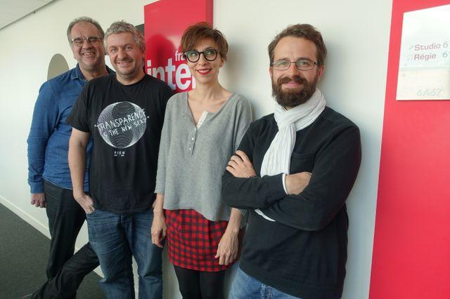 Laurent Delmas, François Cau, Rebecca Manzoni et Benjamin Rocher