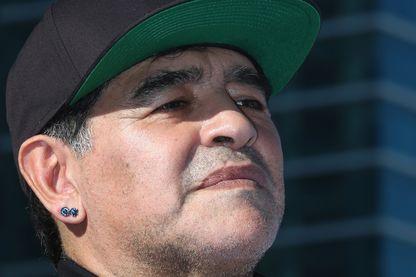 Diego Maradona en février 2016 lors d'une compétition à Dubaï