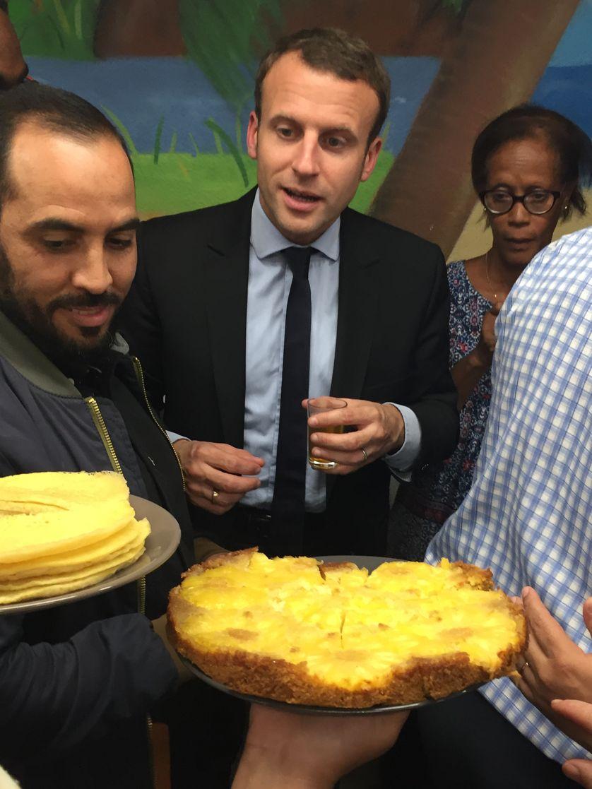 Emmanuel Macron lors d'une visite à Montpellier le 18 octobre 2016