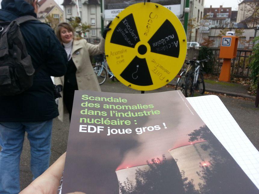 Les militants de Greenpeace sur le marché de la place St-Joseph à Colmar