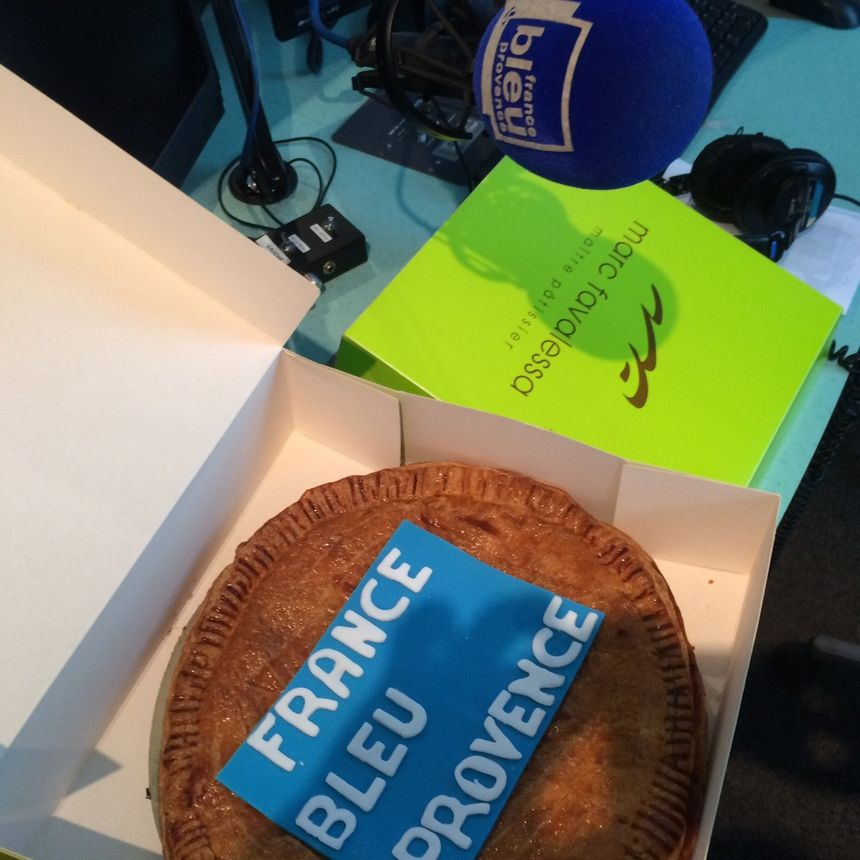 La galette des rois du Fournil de Rousset créée par Marc spécialement pour France Bleu Provence ! Merci  !