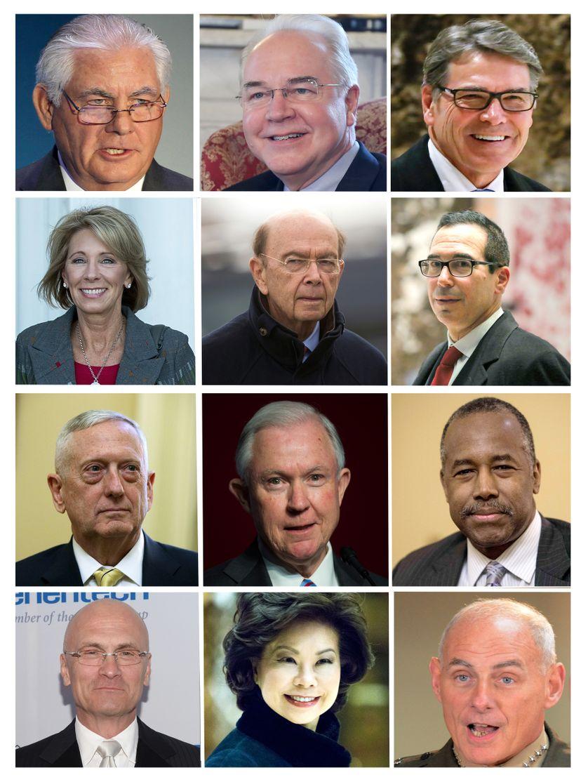 Premiers membres de l'administration Trump, 13 décembre 2016