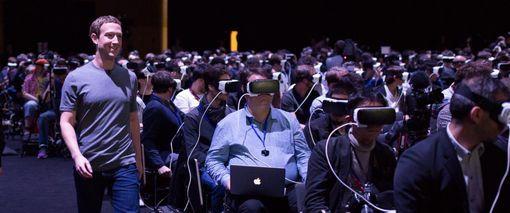 Mark Zuckerberg au Mobile World Congress en février 2016.