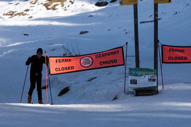 Des pistes fermées par manque de neige (ici à La Feclaz, en Savoie)