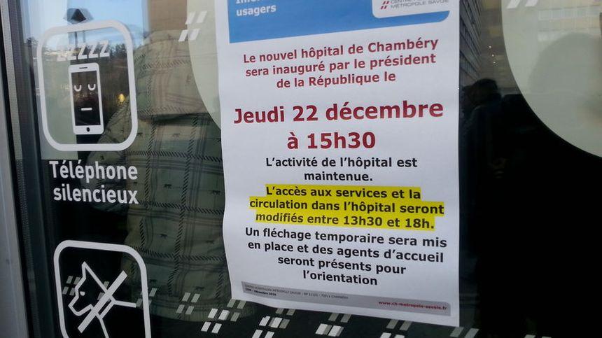 François Hollande inaugure le nouvel hôpital de Chambéry