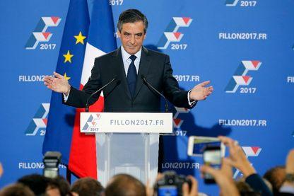François Fillon, le 27 novembre 2016, juste après sa victoire à la primaire de la droite et du centre