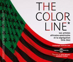 """Jaquette coffret 3 CD, anthologie musicale de l'exposition """"The Color Line*. Les artistes africains-américains et la ségrégation. 1916-1962"""