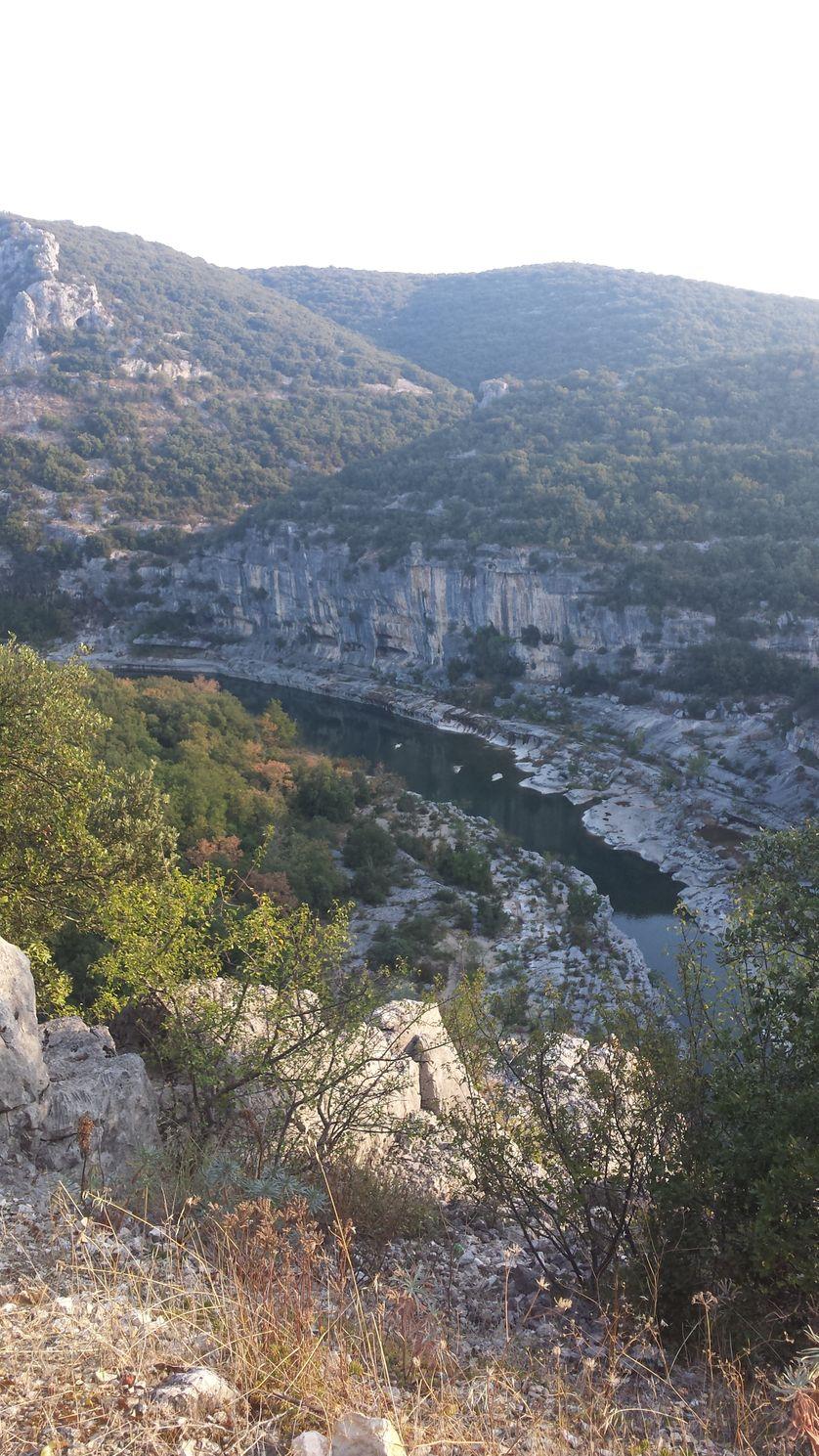 La vue sur la vallée de l'Ardèche
