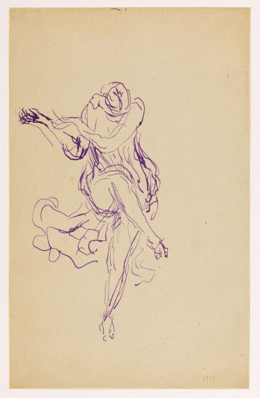 "Antoine Bourdelle (1861-1929). ""Isadora"". Dessin. Paris, musée Bourdelle."
