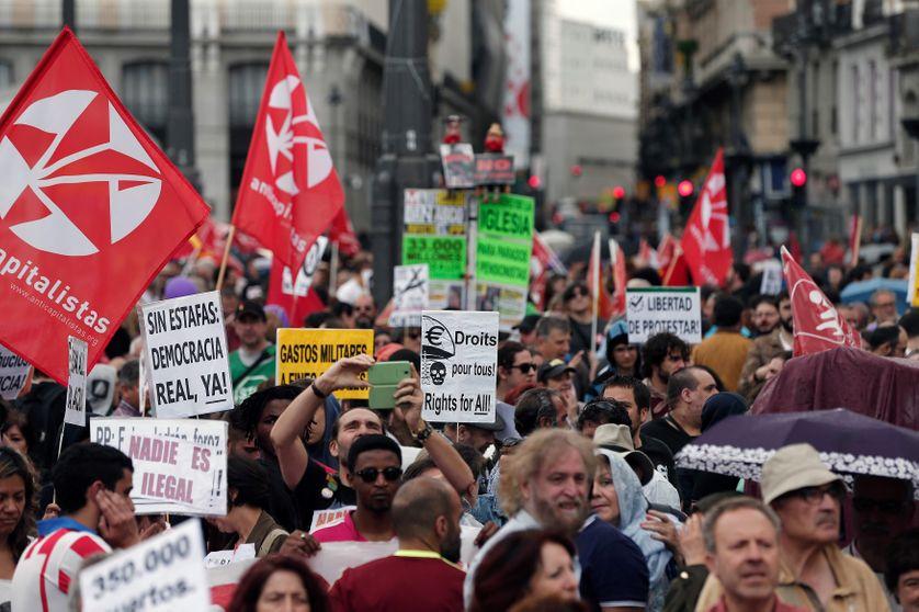 Manifestations anti-austérité en Espagne, le 28 mai 2016
