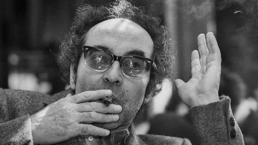 Portrait de Jean-Luc Godard à la Mostra de Venise en 1983.