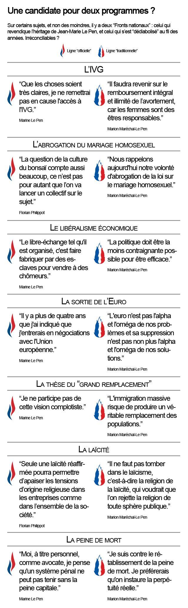 """Au FN, deux lignes se dessinent : """"l'officielle"""" et la """"traditionnelle"""""""