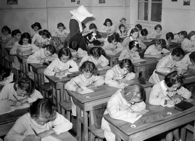 salle de classe en 1957
